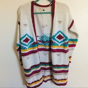XS/S Chunky Aztec Knit Sweater by Billabong